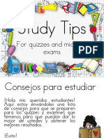 Study Tips for 5th Grade Students Spanish Version