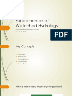 March 12 Fundamentals of Watershed Hydrology