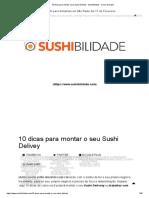 10 dicas para vender sushi a domicilio