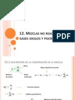 Mezclas n o Reactivas de Gases Ideales y Psicrometría
