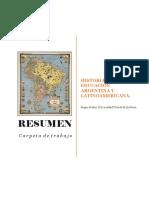[Resumen] CARPETA DE TRABAJO. Historia de la Educación Argentina y Latinoamericana - Universidad Virtual de Quilmes