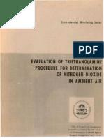 Evaluacion Determinacion No2 Epa
