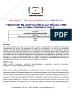 Adaptacion Curricular Hipoacusia