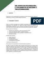 E5 Medicion Del Indice de Polarizacion Del Trafo Trif