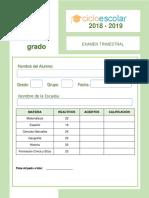 Clave de Respuestas Examen Trimestral Cuarto Grado 2018-2019 (1)