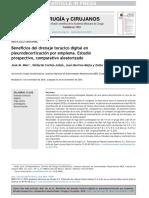Beneficios Del Drenaje Toracico Digital en Pleurodecortacion de Empiema
