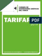 Tarifario 2019 Camara Diseño Grafico Chaco