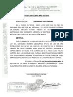 Certificado Domiciliario Notarial