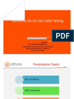 Standards for on-site Cable Testing