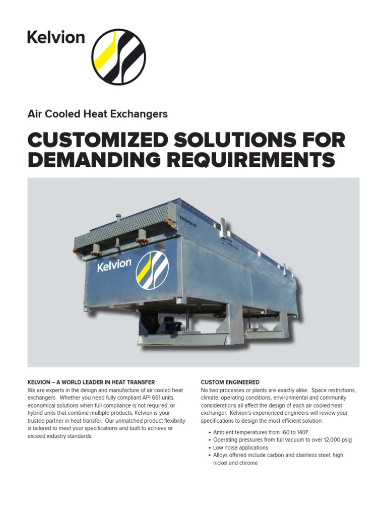 Air Cooled Brochure | Heat Exchanger | Specification (Technical