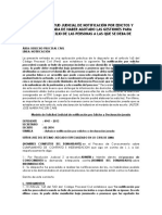Modelo de Solicitud Judicial de Notificación Por Edictos y Declaración Jurada de Haber Agotado l