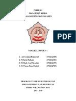 Peper Pasien k3 Temu 6, Peran Manajemen Risiko Dalam Keselamatan Pasien
