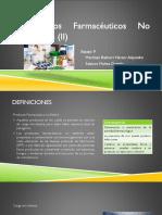 Productos Farmacéuticos no estériles
