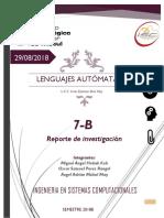 Investigación lenguajes autómatas