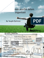 Manajemen Konflik Organisasi (Mentoring Hima 2015)
