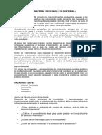 La Concesión de Material Reciclable en Guatemala (Marco Teorico)