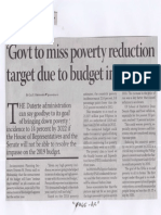 Business Mirror, Mar. 14, 2019, Govt to miss poverty reduction target due to budget impasse.pdf