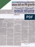 Manila Bulletin, Mar. 14, 2019, Budget row takes toll on PH growth.pdf