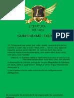 PLATAFORMA EXERCICIOS QUINHENTISMO