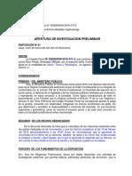 Apertura de Investigacion Caso 479-2019