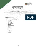 Anatonia - Quiz Con Risposte Settembre 2017