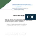 CERTIFICADO DE CALIDAD- Factura 0002-000031.pdf