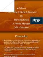 Lecture on Personality & Attitude