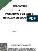 pararrayos de oxido metalico sin explosores y explosores