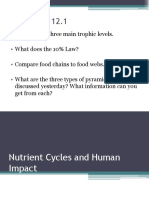 Nutrient Cycles and Human Impact
