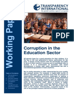 Corruption in Education Sector