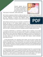 Bio Data of BK Dr Sachin Bhai - Eng