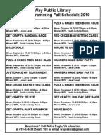 Fall 2010 Schedule Printer Friendly