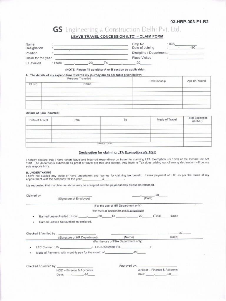 LTC Claim Form-R2