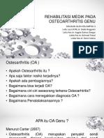 Rehabilitasi Medik Pada Osteoarthritis Genu