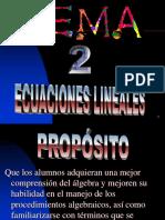 4.3.0 Ecuaciones Lineales