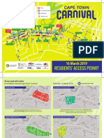Cape Town Carnival  2019 - Resident Access Map