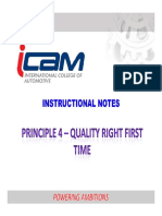 Principle 4 Quality Right First Time Every Time