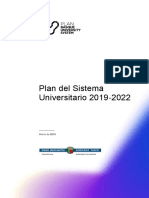 Plan Del Sistema Universitario 2019-2022