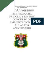 Bases Del Concurso de Ambientación de Aulas Por Aniversario