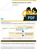 """Subcontracting with Chargeable Components"""" and """"Material Ledger"""