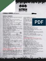FAQ Batman Miniature Game