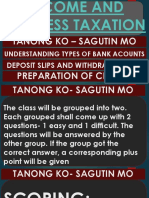 Topic 14- Income and Business Taxation