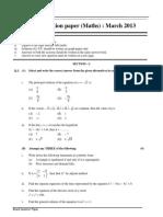 Hsc Maths i Board Paper 2013