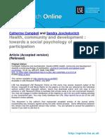 Health, Community and Development (Lsero)