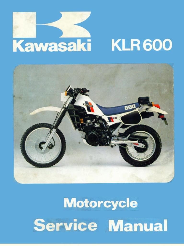 Kl600 Wiring Diagram Kawasaki Klr 600 Klr600 Service Manual Eng By Mosue 85