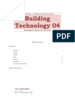 Building Technology 04 Standard Specification