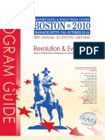 ISHRS 18th Annual Scientific Meeting Program Guide Boston 2010