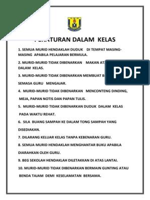 Peraturan Dalam Kelas Docx