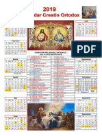 Calendar Ortodox Md 2019