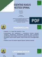 anestesia spinal